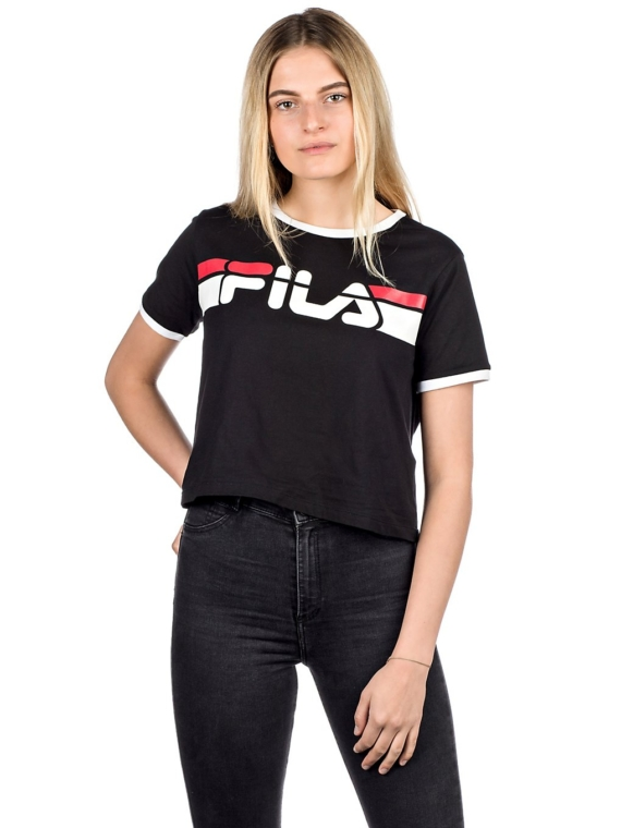 Fila Ashley Cropped T-Shirt zwart