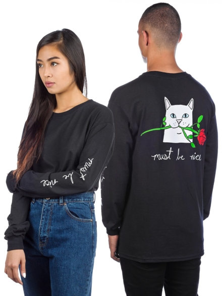 RIPNDIP Romantic Nerm Long Sleeve T-Shirt zwart