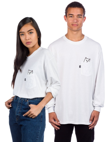 RIPNDIP Lord Nermal Pocket Long Sleeve T-Shirt wit