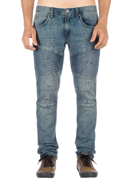 Ninth Hall Decoy Fit Moto Jeans blauw
