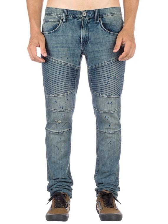 Ninth Hall Decoy Fit Moto Jeans blauw