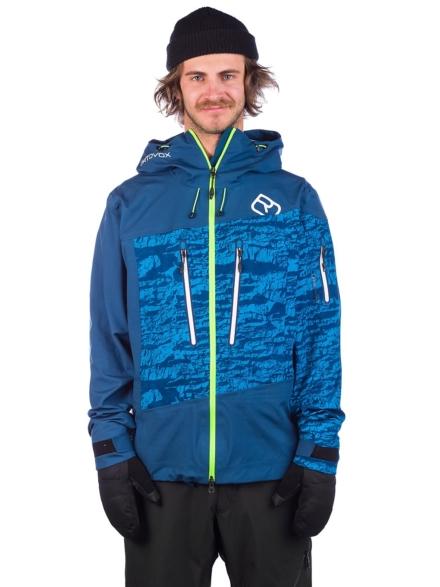Ortovox 3L Guardian Shell Ski jas blauw