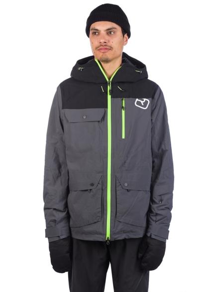 Ortovox 2L Swisswool Andermatt Ski jas zwart