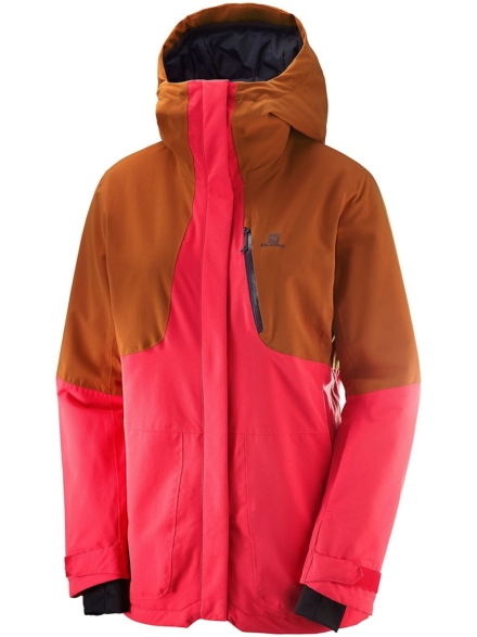 Salomon Qst Snow Ski jas rood