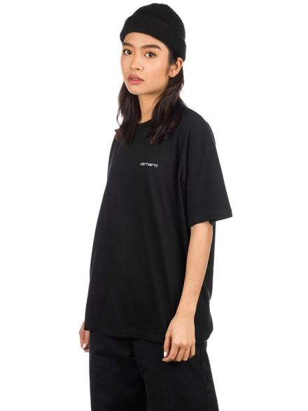 Carhartt WIP Script Embroidery T-Shirt zwart