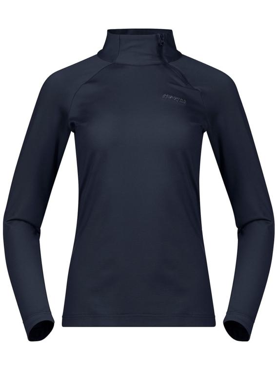 Bergans Stranda Half Zip Tech t-shirt met lange mouwen blauw