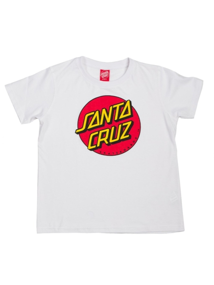 Santa Cruz Classic Dot T-Shirt wit