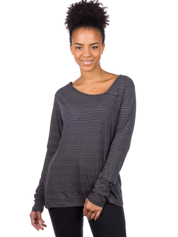 Iriedaily Asym Stripe 3 Long Sleeve T-Shirt grijs