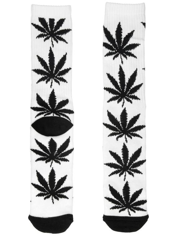 HUF Essentials Plantlife skisokken wit