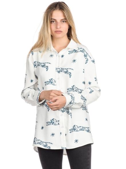 Plenty Abigail Button Down Shirt met lange mouwen wit