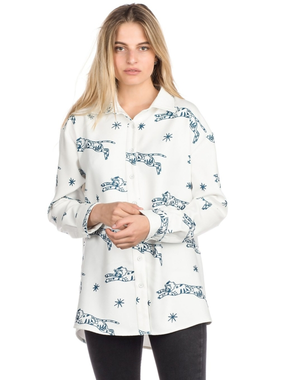 Plenty Abigail Button Down Shirt met lange mouwen wit