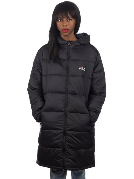 Fila Zia Long Puff Ski jas zwart