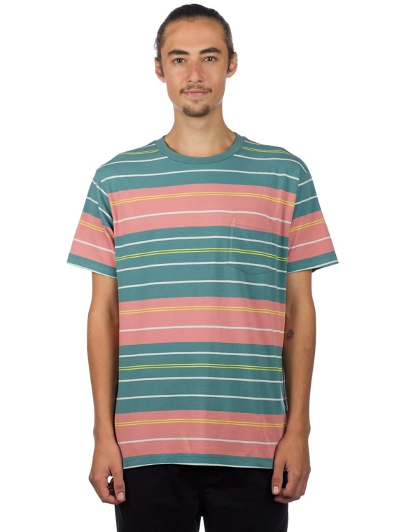RVCA Rusholme Stripe T-Shirt groen