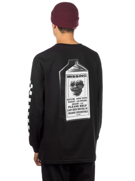 Scum Milk Ratboy Long Sleeve T-Shirt zwart