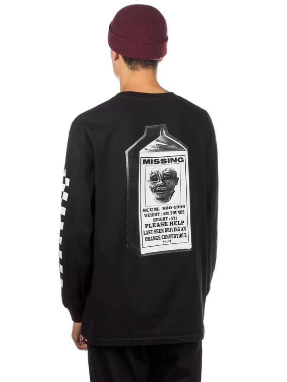 Scum Milk Ratboy Long Sleeve T-Shirt zwart