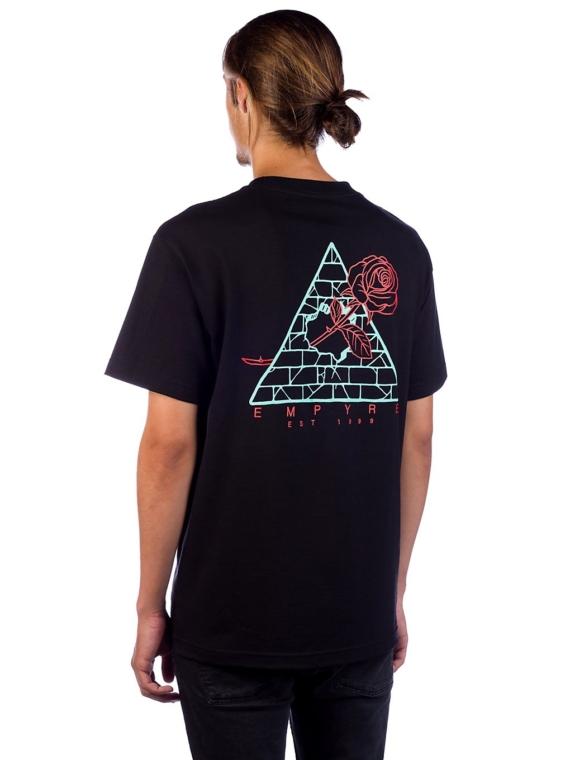 Empyre Broken Roses T-Shirt zwart