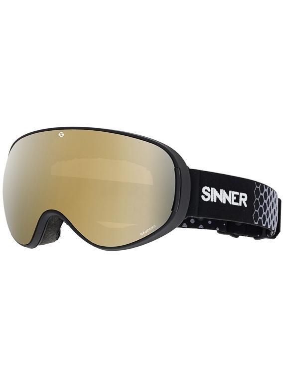 Sinner Nauders Matte zwart (+Bonus Lens) zwart