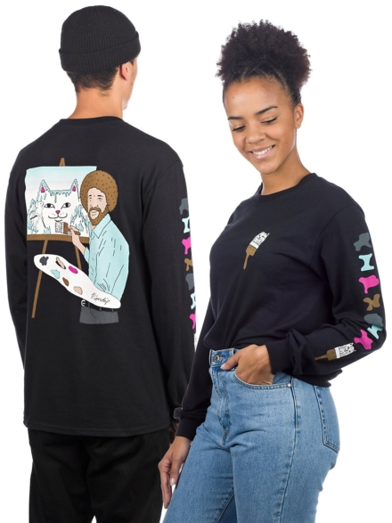 RIPNDIP Ross Long Sleeve T-Shirt zwart