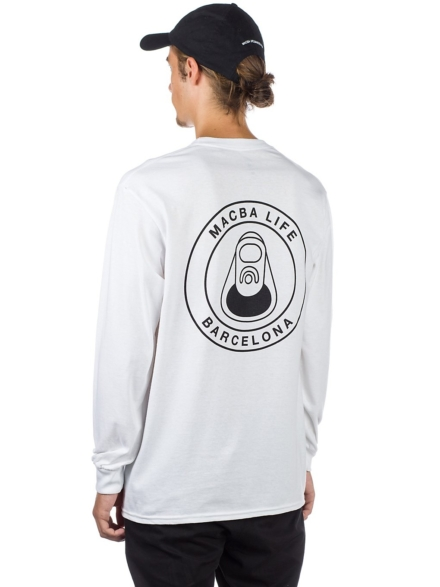 Macba Life OG Logo Long Sleeve T-Shirt wit