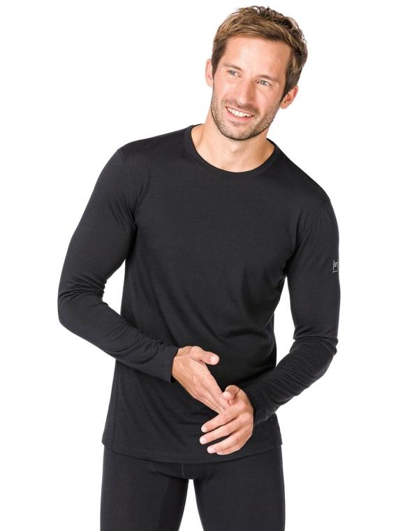 super.natural Base 175 Tech t-shirt met lange mouwen zwart
