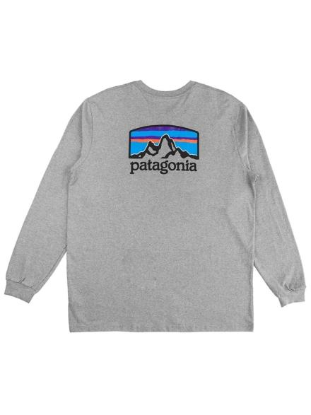 Patagonia Fitz Roy Horizon Responsibili Long Sleev grijs