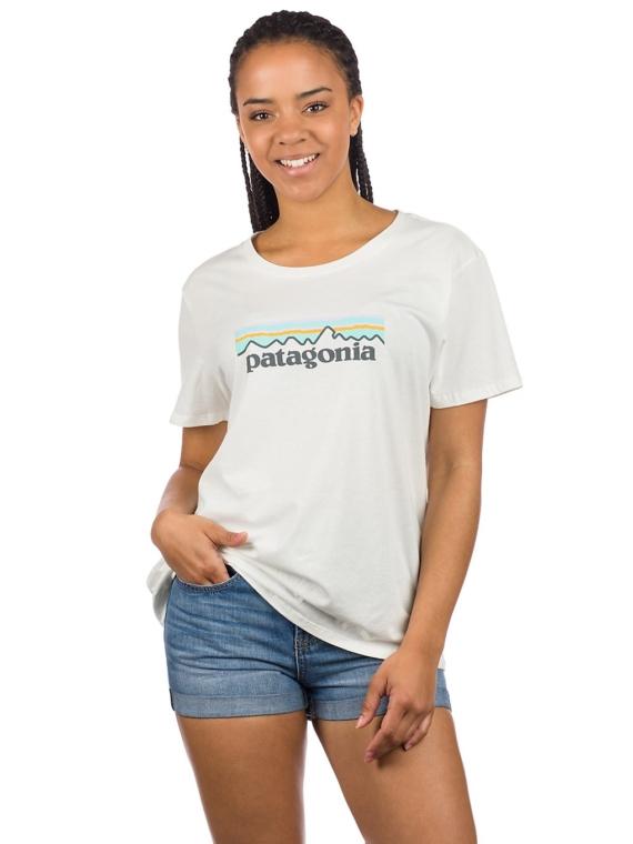 Patagonia Pastel P-6 Logo Organic Crew T-Shirt wit