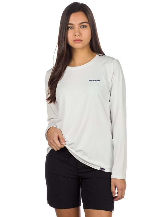 Patagonia petje Cool Daily Graphic Longsleeve Lycra wit
