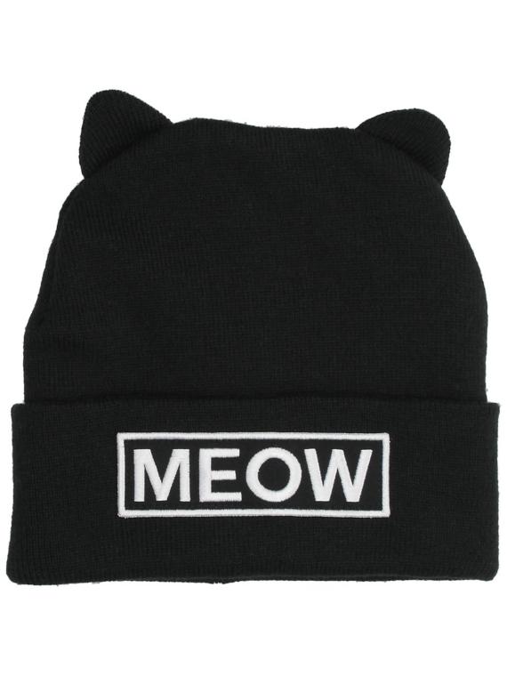 A.Lab Miss Meow Beanie zwart