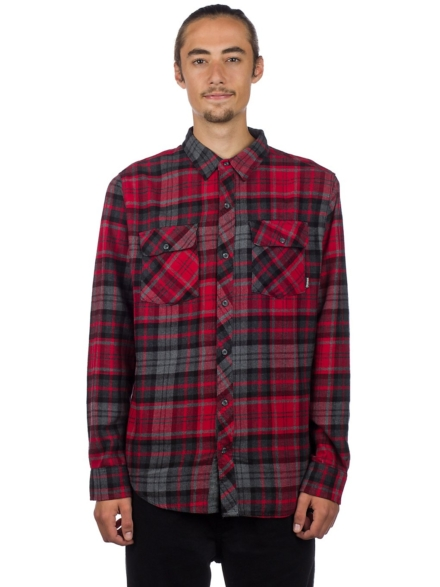 Dravus Travis Flannel Shirt rood