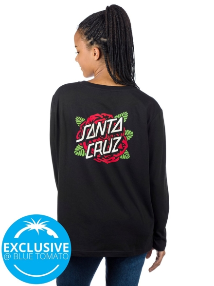 Santa Cruz Rose Dot Long Sleeve T-Shirt zwart