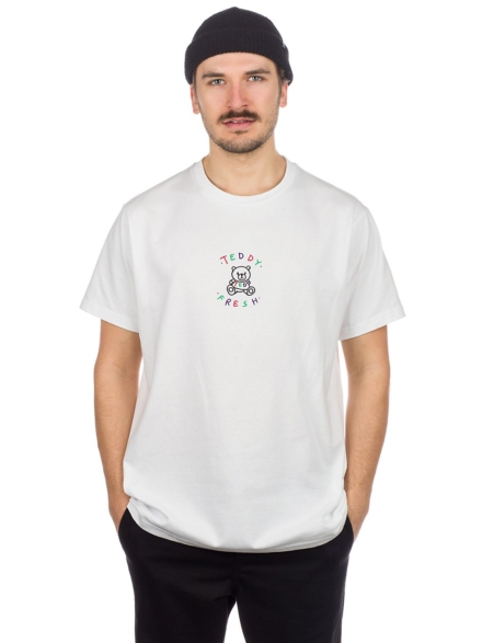 Teddy Fresh wit Embroidery Logo T-Shirt wit