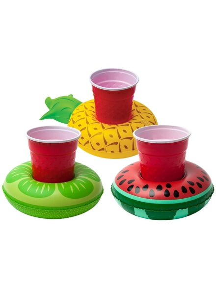Big Mouth Toys Tropical Fruits Beverage Boats 3Pk patroon