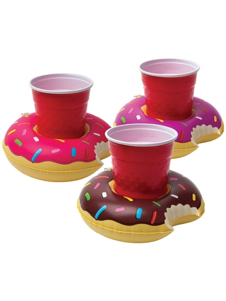 Big Mouth Toys Frosted Donuts Beverage Boats 3Pk patroon