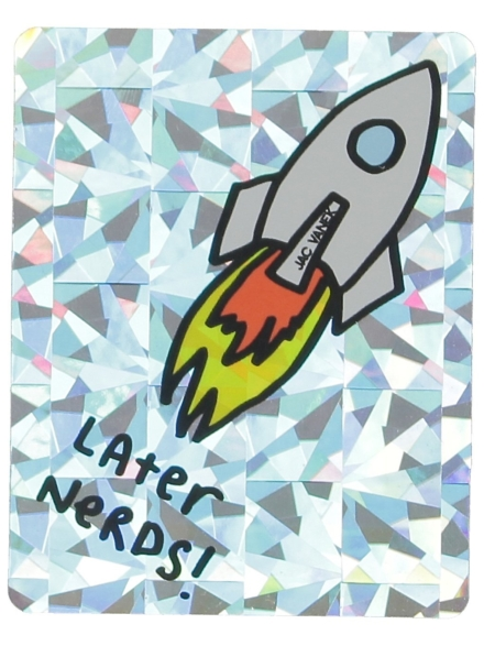 Jac Vanek Later Nerds Sticker patroon