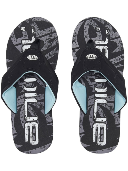 Animal Jekyl Logo slippers zwart