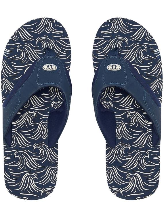 Animal Jekyl Aop slippers blauw