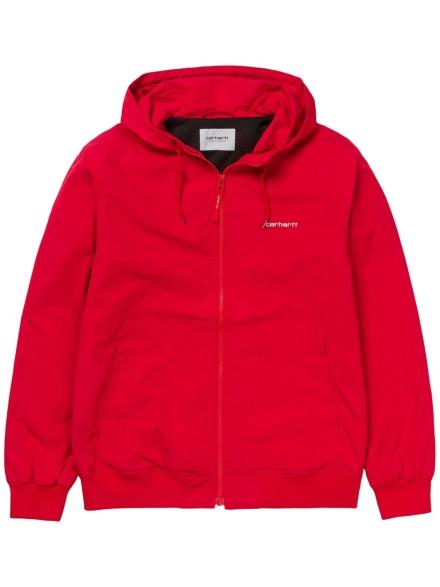 Carhartt WIP Marsh Zip Hoodie rood