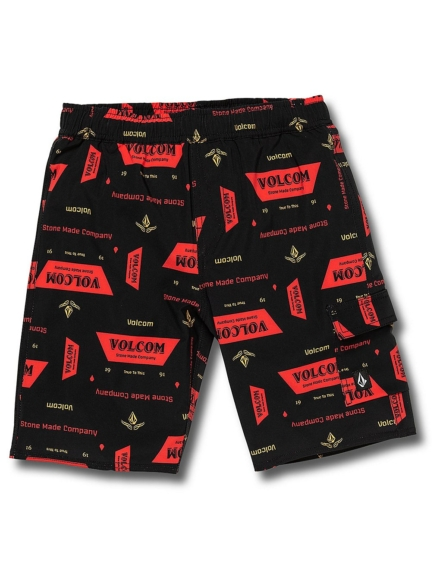 Volcom True Volley Boardshorts zwart