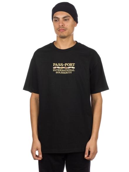 Pass Port Inter Solid T-Shirt zwart