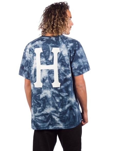 HUF Classic H Tie Dye T-Shirt blauw