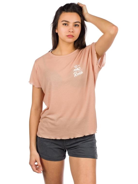 RVCA Mai Tai Rib T-Shirt roze