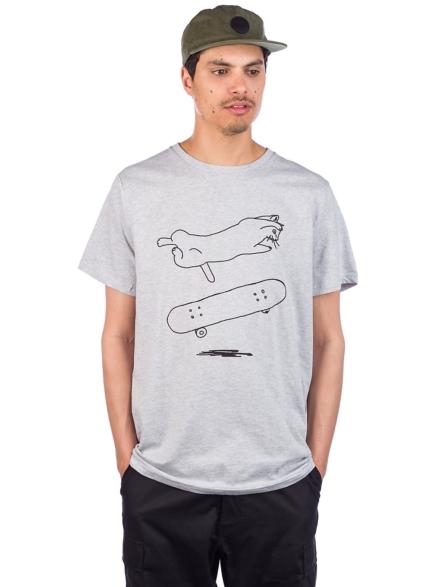 Dedicated Stockholm Cat Flip T-Shirt grijs