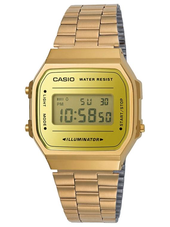 Casio A168WEGM-9EF geel