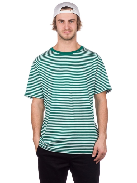 Zine Ranked Stripe T-Shirt groen