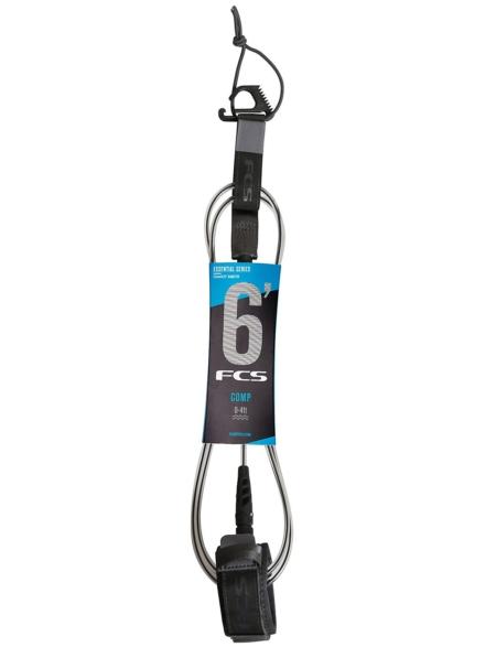 FCS 6' Comp Essential Leash grijs