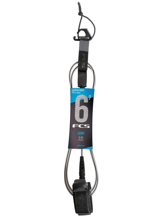 FCS 6′ Comp Essential Leash grijs