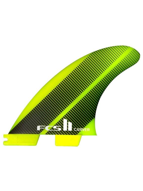 FCS II Carver Neo Glass Medium Tri Fin groen