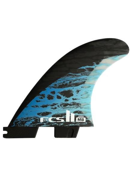 FCS II MB PC Carbon L Tri-Quad Retail Fin blauw