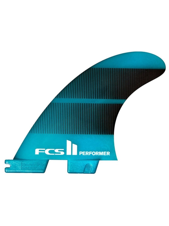 FCS II Performer Neo Glass M Tri-Quad Fin blauw