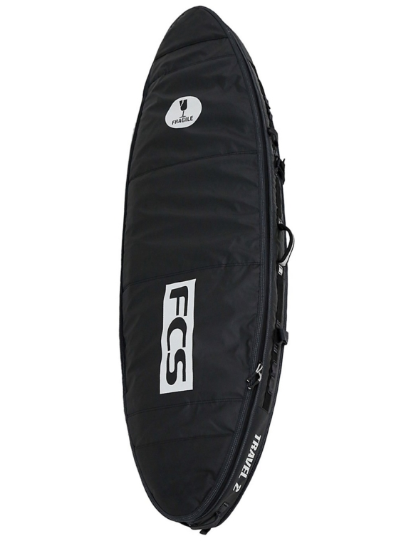 FCS Travel 2 All Purpose 6'7 Surfboard tas zwart